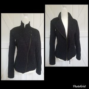 I Heart Ronson Sparkle Tweed Moto Jacket